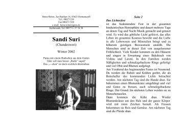 Sozialstation Sandi Suri - Heinz Reiter