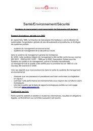 Santé/Environnement/Sécurité - Galvaswiss AG