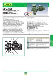Technisches Datenblatt - DAB Pumpen