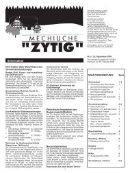 Nr.5 - 25. September 2009 - Meikirch