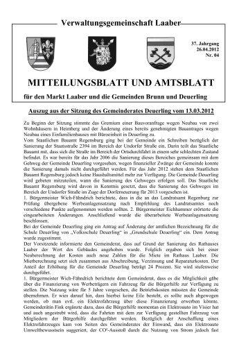 Mitteilungsblatt April 2012 - Markt Laaber