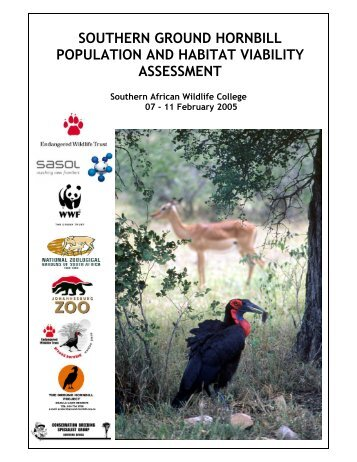 Southern ground hornbill population and habitat - Conservation ...