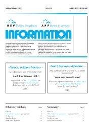 HEV-Information Nr. 81 - Hauseigentümerverbandes Biel