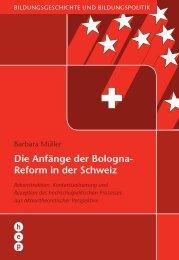 Die Anfänge der Bologna- Reform in der Schweiz - h.e.p. verlag ag ...