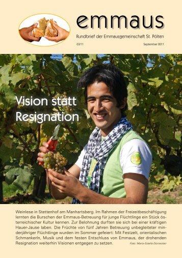 Rundbrief Ausgabe 3/2011 - Emmausgemeinschaft St. Pölten