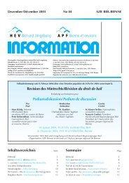 HEV-Information Nr. 84 - Hauseigentümerverbandes Biel