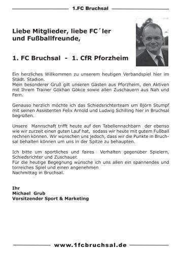 Stadionheft Nr. 7 CFR Pforzheim - 1.FC Bruchsal