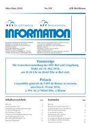 HEV-Information Nr. 109 - Hauseigentümerverbandes Biel