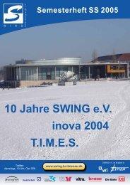 10 Jahre SWING eV inova 2004 TIMES - SWING an der TU Ilmenau ...