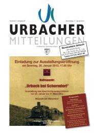 Mitteilungsblatt vom 17.01.2013 - Gemeinde Urbach
