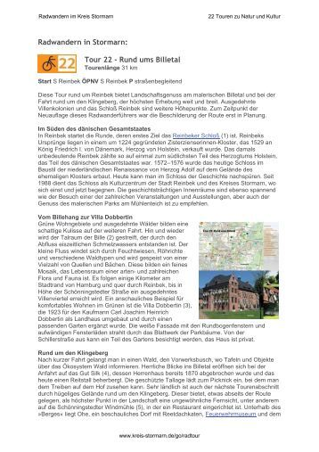 Radwandern in Stormarn: - Stormarn Tourismus