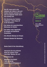 Wahlprospekt 2008 - GFL Belp