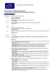 Programm Tagung - Aktion Psychisch Kranke e.V.