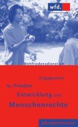 Jahresbericht 2001 - Weltfriedensdienst e.V.