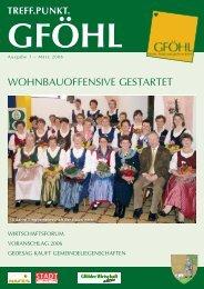 wohnbauoffensive gestartet - Stadtgemeinde Gföhl