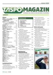 Jahresinhalt TASPO Magazin 2008