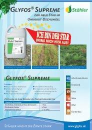 Kurzinformation Glyfos SUPREME (750 KB) - Stähler GmbH & Co. KG