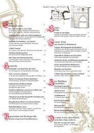 Speisekarte Restaurant - Bückingsgarten   Marburg