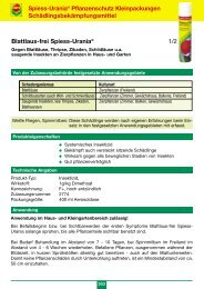 Blattlaus-frei Spiess-Urania® 1/2 Spiess-Urania ... - Schneckenprofi