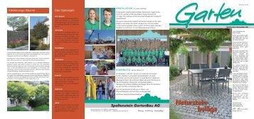 Die Gartenzeitung vom Herbst 2011 - Spaltenstein Gartenbau AG
