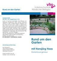 Rund um den Garten mit Hansjörg Haas