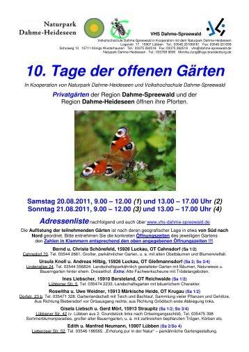 Tage der offenen Gärten 2011 INFOFLYER mit Adressen_Korrektur
