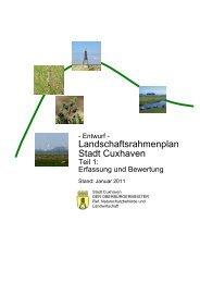Landschaftsrahmenplan - Entwurf - Stadt Cuxhaven