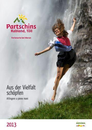 Katalog herunterladen... - Tourismusverein Partschins mit Rabland ...