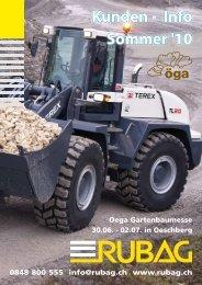 Kunden - Info Sommer '10 - RUBAG Baumaschinen
