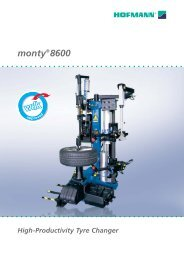 monty®8600 High-Productivity Tyre Changer