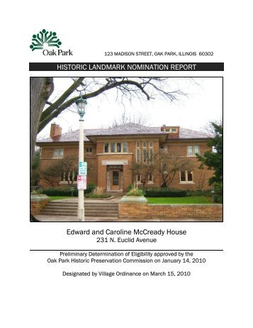 Edward And Caroline McCready House - the Village of Oak Park