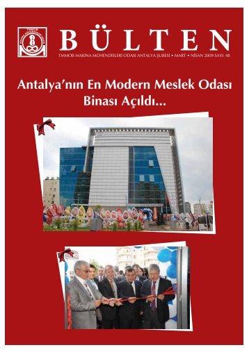 Antalya'n›n En Modern Meslek Odas› Binas› - Makina Mühendisleri ...
