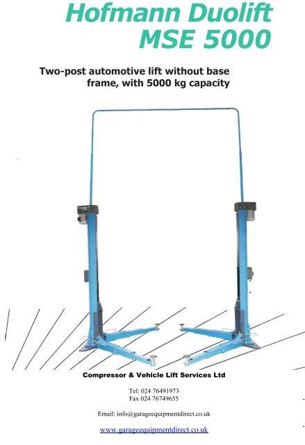 10f50a31f5b77e Hofmann Duolift MSE 5000 - Garage Equipment Direct Online Shop