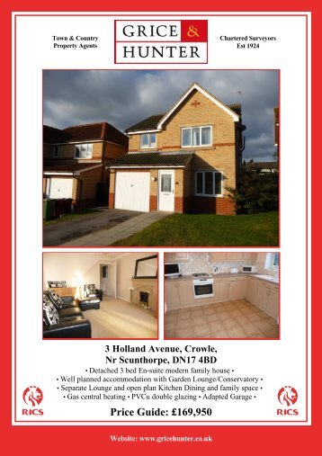 3 Holland Ave, Crowle - Grice & Hunter