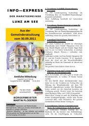 Info-Express Oktober 2011 - Lunz am See