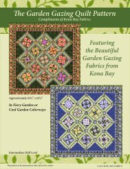 The Garden Gazing Quilt Pattern - Kona Bay Fabrics