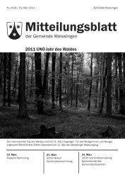 Mitteilungsblatt - Weisslingen