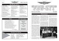 Bericht Generalversammlung - FBW-Club