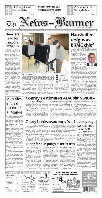 Haushalter resigns as BRMC chief - Bluffton News Banner