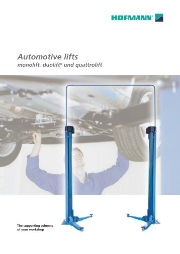 Automotive lifts monolift, duolift® und quattrolift