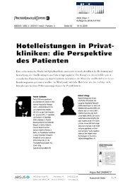 kliniken: die Perspektive - PwC