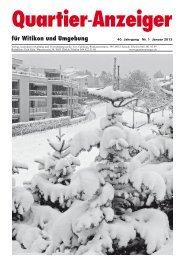 Ausgabe 1, Januar 2013 - Quartier-Anzeiger Archiv - Quartier ...