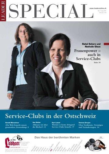 Service-Clubs in der Ostschweiz - Distrikt 2000