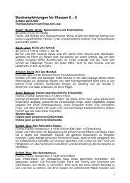 Buchempfehlungen für Klassen 5 – 6 - Stadt Rüsselsheim