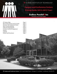 Campus and Conference Centers Pricing Guide - Illinois Institute of ...