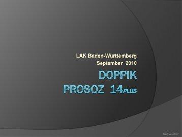 """Präsentation """"Doppik in PROSOZ 14plus"""""""