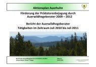 Zwischenbericht Auerwildprojekt [1.0 MB] - Landesjagdverband ...