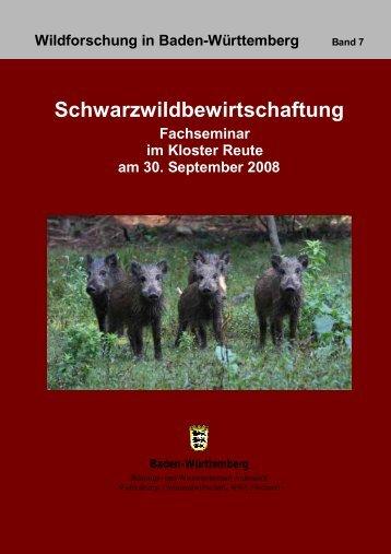 Tagungsband Fachseminar Schwarzwildbewirtschaftung