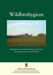 Wildbrethygiene - Ministerium für Ländlichen Raum und ...