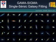 GAMA-SIGMA: Single-Sérsic Galaxy Fitting